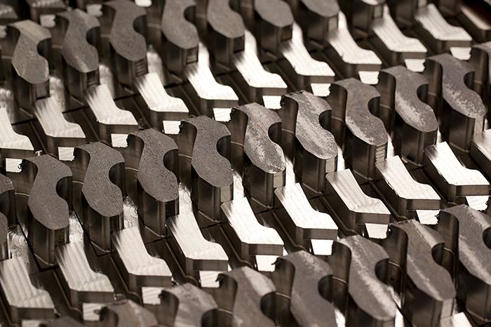 Parts in row